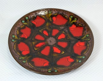 vintage ruscha 1960's 70's WALL PLATE bowl fat lava pop art circles #2
