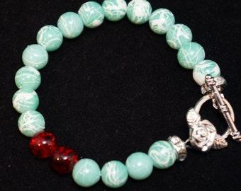 Marbled green bracelet
