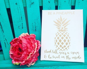 Gold 'Be a Pineapple' Print