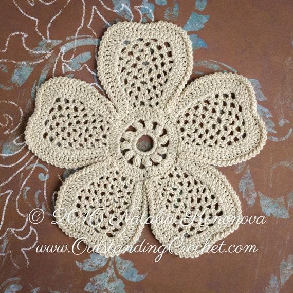 Outstanding Crochet Irish Crochet Motifs Pattern 5 Petals Flower