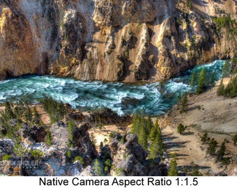 Looking into the Yellowstone: Landscape art photography prints for home or office wall decor.
