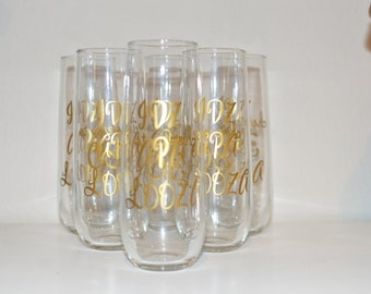 Custom Stemless Champagne Glasses : Events / Birthdays / Wedding