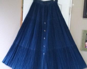 Rhthm Blue Jean Skirt