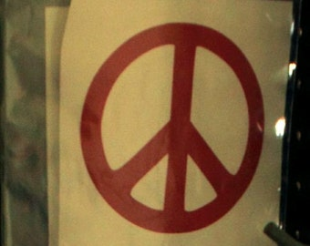 Window Decal: Peace Sign