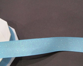 Cute 7/8 Grosgrain Blue Dazzle Ribbon for Hair bow and More