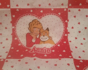 Vintage Little Orphan Annie Fabric.  3pcs 1982 Trilane Syndicate Springs Industires Annie and Sandy Fabric