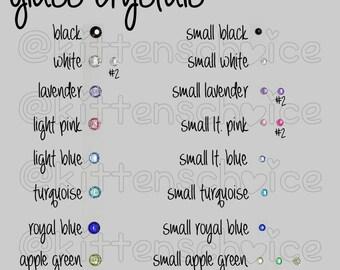Glass Crystal Gems (add onto collar)