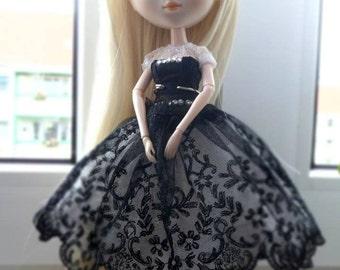 Pullip corset dress black and white