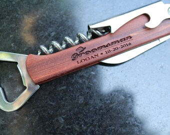 Personalized groomsmen accessories - groomsmen bottle opener