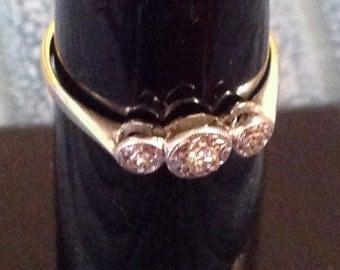 Diamond Ring - Vintage Ring 18ct Gold