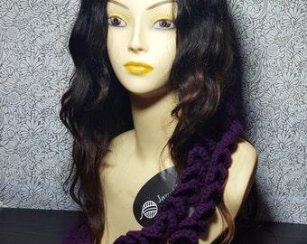 Long Crocheted Purple Necklace