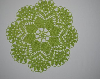 Crochet doily / Lace / Green