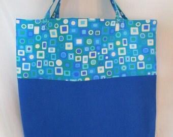 Tote bag blue retro box