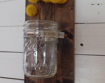 MADE TO ORDER - Mason Jar Wall Sconce, Wall Vase