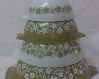 Spring Blossom PYREX Cinderella Nesting Bowls, Crazy Daisy PYREX Cinderella Mixing Bowls