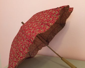 Late 19th/early 20th Century Calico parasol