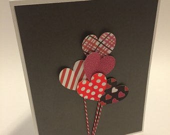 Handmade Heart Balloon Love Greeting Card