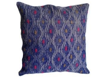 """Kilim Pillow Vintage Decorative Pillow Old Kilim Pillow Handwoven Kilim Pillow Accent Pillow Unique Textiles Boho 20""""x20"""",Free Shipp in USA"""