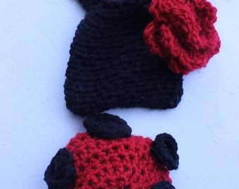 Infant Ladybug crochet photo prop
