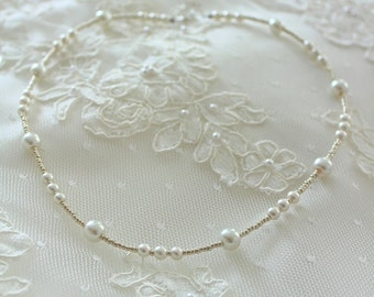 wedding necklace pearl, ivory jewerly, bridal necklace pearls ,bride fashion jewelry, bridesmaid,hochzeit, bryllup,bruden,braut,mariee,beads