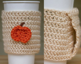 Coffee Sleeve with Handle - Crocheted (Made to Order)
