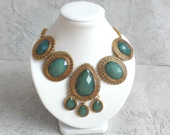 Persia-inspired breastplate necklace