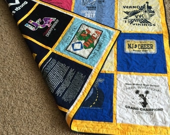 DOUBLE SIDED Custom made Tshirt Memory Quilt (Deposit)
