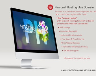 Hosting and Domain Name Package - Custom Website