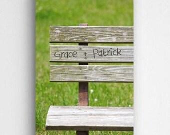 Park Bench Romance Canvas