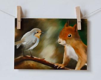 postcard squirrel vs Robyn