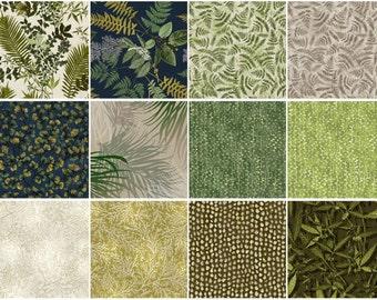 Nature Trail Fat Quarter Bundle, Fabric-Quilt, Precut Fabric, Quilt Fabric, Cotton Fabric, Landscape Fabric, Nature Fabric, Green Fabric