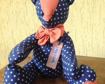Bear ZIZOU  en textil - tel brasileña