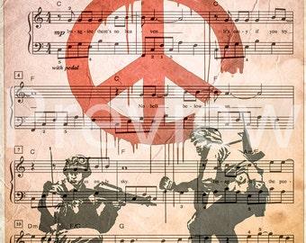 Imagine Sheet Music Poster