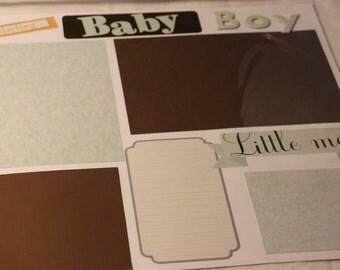 12x12 Baby Boy 2 Scrap Book Page Set
