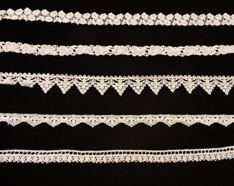 10 Yds of Venise Lace Trim - 2  Yds of each style