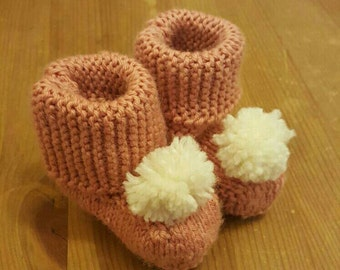 Baby ugg style pompom boots