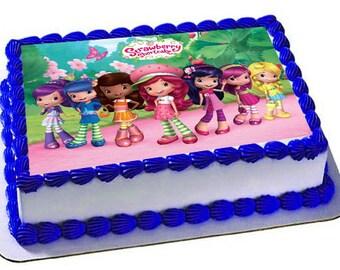 Strawberry Shortcake Edible Cake Topper, Strawberry Shortcake Birthday Party, Frosting Sheet