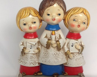 Christmas, Christmas Choir, Vintage 1960s, Carolers, Choir Children, Vintage Choir, Christmas Decor, Choir Boy, Choir Girl, Holiday Decor