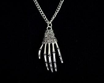 Silver Skeleton Necklace or Earrings