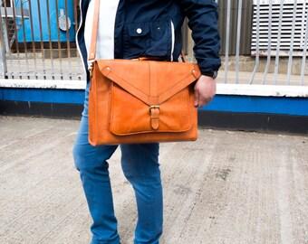 Laptop satchel Leather Bag