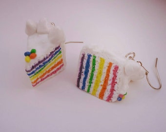 Earrings Rainbow cake