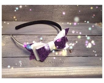 Glitter Bow Headband - custom colours