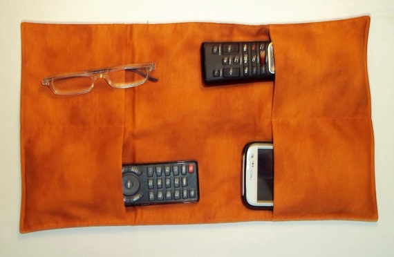 Remote Control Arm Chair Caddy Cell Phone Gadget By Sewfroggiesew