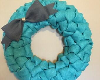 """24"""" Burlap Wreath-Pick your Colors!"""
