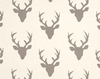 Woodland baby bedding, deer changing pad cover, baby boy room, bucks, antlers, off-white and grey nursery, woodland, hunter lumberjack bed