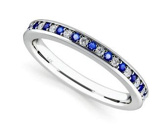 14K White Gold Diamond Wedding Band Ring For Women 070 Carats