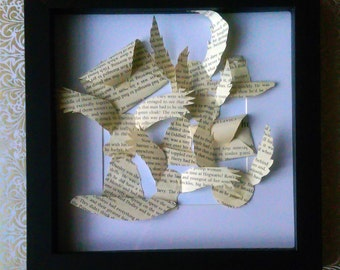 Harry Potter 3D Paper Book Collage
