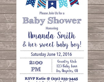 Boy Baby Shower Invitation | JPEG FILE
