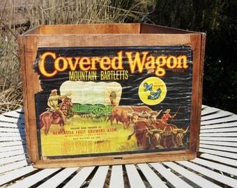 Wooden Crate Vintage Wooden Fruit Crate California Fruit Exchange Crate