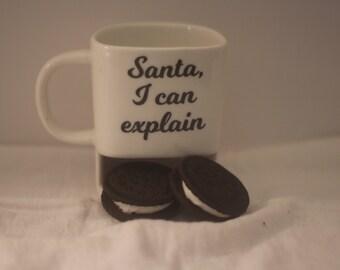 Santa, I can explain milk & cookies mug-coffee mug-Personalized mug-milk mug-Tea mug-Ceramic mug-Cookie mug-Juice mug-Chocolate Milk Mug